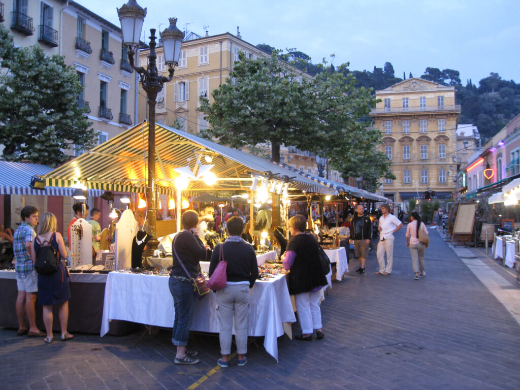 Photo of Cours Saleya market in Nice, France